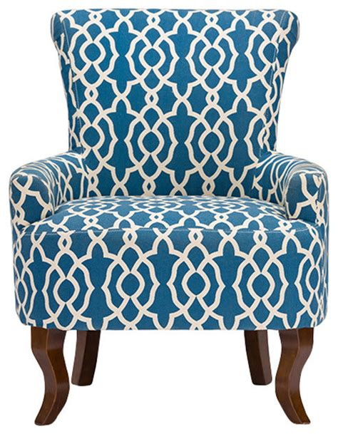 baxton studio dixie contemporary fabric armchair navy