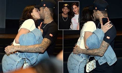 neymar packs on pda with marquezine daily mail