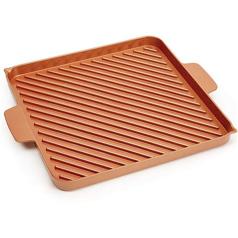 tv copper chef  stick grill pan color rust jcpenney