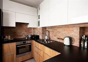 Schwarze Arbeitsplatte Küche : schwarze arbeitsplatte k chenr ckwand in ziegeloptik haus pinterest k chenr ckwand ~ Sanjose-hotels-ca.com Haus und Dekorationen