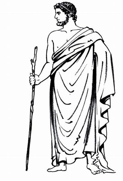 Ancient Greece Greek Himation Drawing Arm Shawl