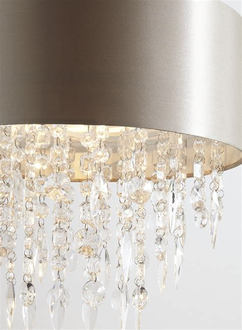 modern mocha easy fit fabric ceiling pendant light l