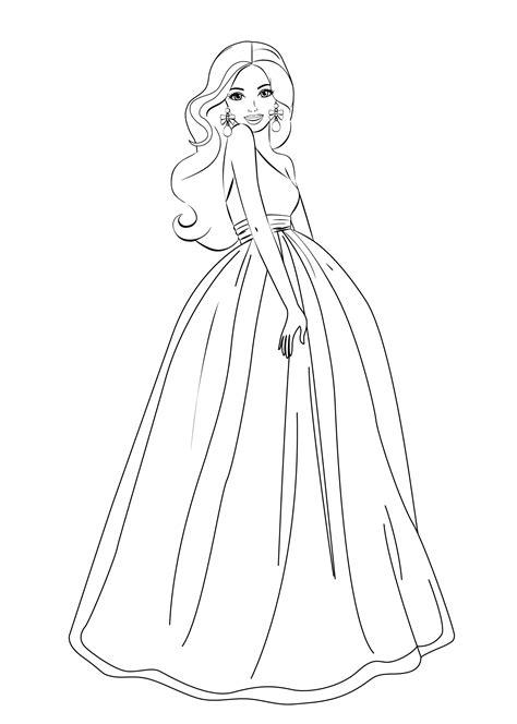 barbie princess coloring pages  coloring pages  kids