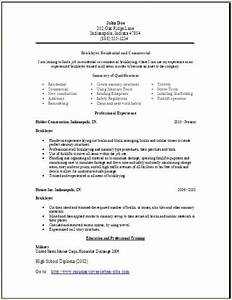 Cover Letter Format Sample Bricklayer Resume Occupational Examples Samples Free