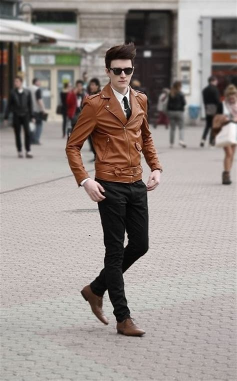 Refined Look Brown Leather Jacket | SOLETOPIA