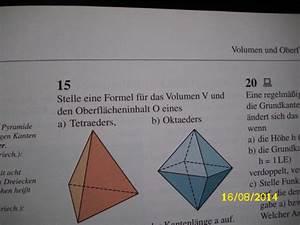 Tetraeder Volumen Berechnen : volumen eines tetraeders berechnen mathelounge ~ Themetempest.com Abrechnung