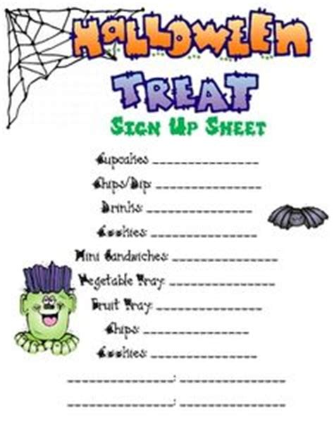 sign up sheets for preschool festival 740 | Halloween Sign Up Sheet Preschool Party (11)