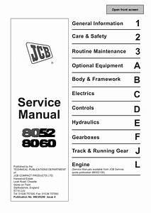 Jcb 8052 Midi Excavator Service Repair Manual Sn1178000
