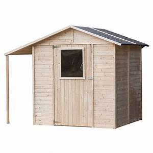 Abri de jardin bois + abri bûches FSC 4 21m² 235x164xh200cm Achat / Vente abri jardin