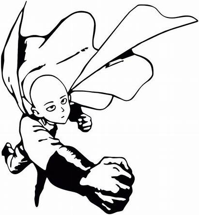 Punch Saitama Decal Anime Sticker Coloring Pages