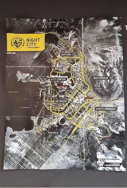 Map Cyberpunk 2077 Night Districts Location Locations