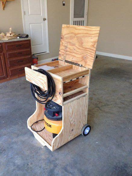 air compressor caddy craft storage cart workshop