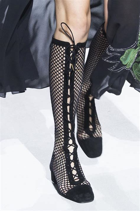 high laced shoes shoes 2018 are about fishnet comfortable and