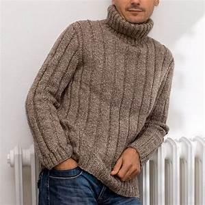 Gros Pull Laine Homme : modele tricot pull col boule ~ Louise-bijoux.com Idées de Décoration