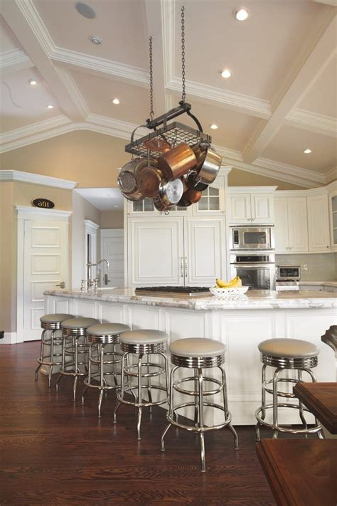 vaulted ceiling decorating kitchen traditional  white