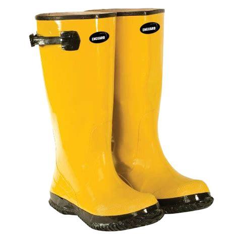 enguard s size 14 yellow rubber slush boots egsb 14