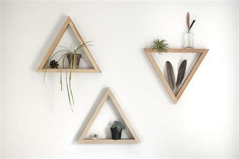 triangle wall shelf diy wooden triangle shelves 187 the merrythought
