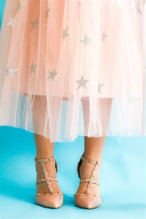 diy sparkly star tulle skirt perfect  christmas