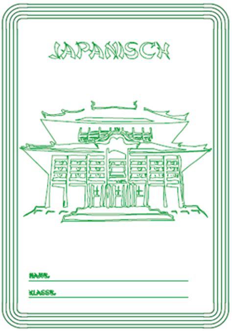 deckblatt japanisch ausdrucken