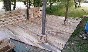 pallet deck construction diy patio furniture 101 With pallet patio floor