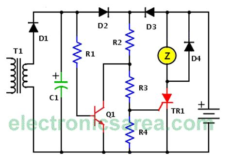 Main Power Failure Alarm Battery Backup Circuit