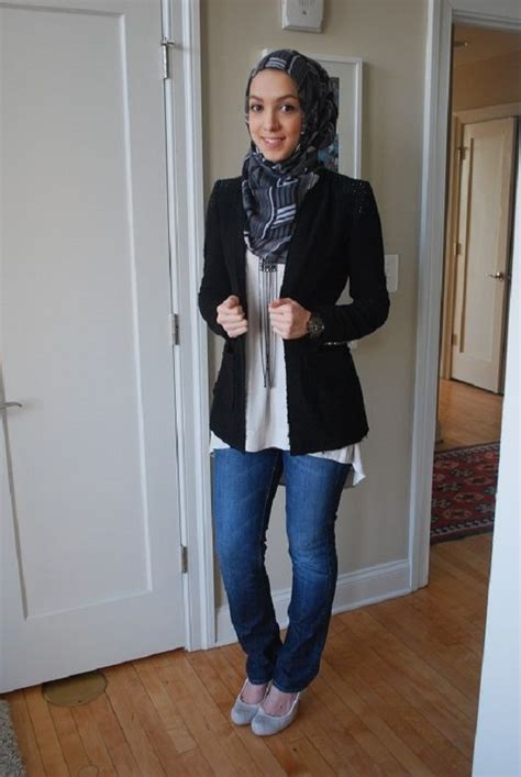 latest women casual hijab styles  jeans trends  galstylescom