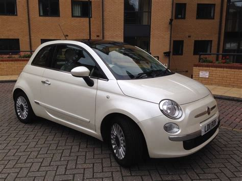 Fiat 500 White by Fiat 500 1 2 Lounge Lovely Pearlescent Funk White Colour