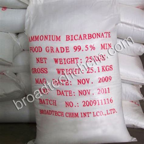 bicarbonate d ammonium cuisine sell ammonium bicarbonate food grade broadtech chemical