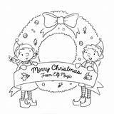 Elf Coloring Pages Magic Elves Sheet Santa Printable Sheets Activity Envelope Wish Buddy Getcolorings Secret sketch template