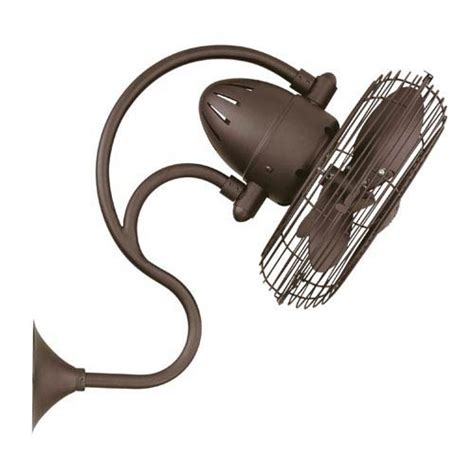 Small Oscillating Outdoor Ceiling Fan by Melody Textured Bronze Oscillating Wall Mounted Fan