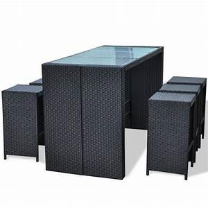 Lounge Set Rattan : 13 pcs black bar setting sofa furniture set wicker rattan chairs table lounge aud ~ Whattoseeinmadrid.com Haus und Dekorationen