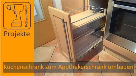 kuechenschrank zum apothekerschrank umbauen diy kitchen