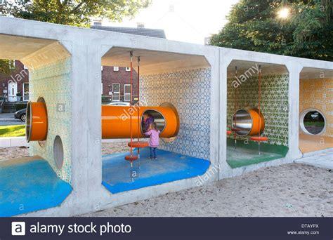 Oberhausen, Germany, a modern children's playground Stock