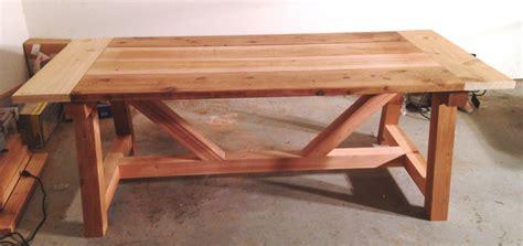 ana white  farmhouse truss beam table wholesteadingcom