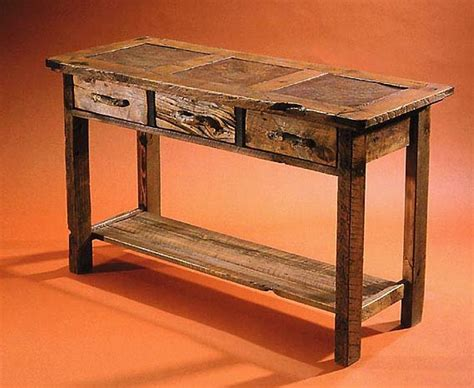 rustic console table  storage rustic console table
