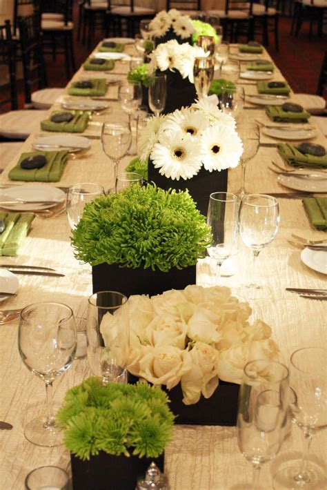 centerpieces  long tables google search july