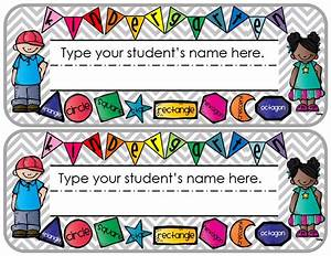 preschool name tag templates - elementary organization gnarly name plates part two