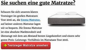Visco Matratze Test : matratzen test 2016 die besten matratzen im testsieger vergleich ~ Indierocktalk.com Haus und Dekorationen