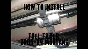 How To Change A Fuel Filter - 2005-10 Mustang Gt