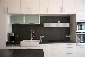 Crédence Béton Ciré : cr dence et plan en b ton cir couleur platinium flore ~ Premium-room.com Idées de Décoration