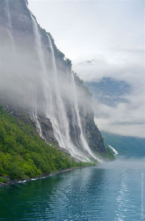 The Seven Sisters Geiranger Fjord Norway Travel Love