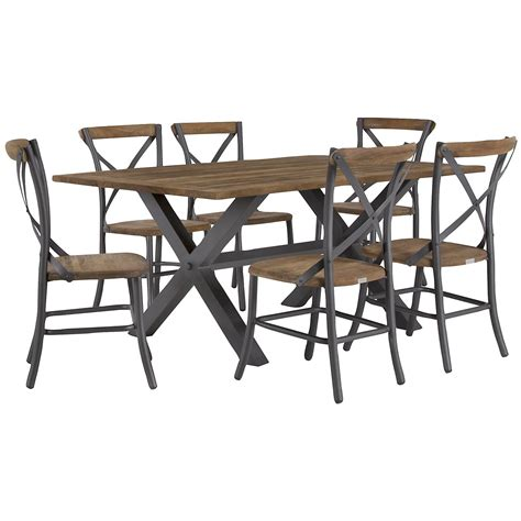 rectangle table with chairs city furniture canyon dark tone 72 quot rectangular table 4