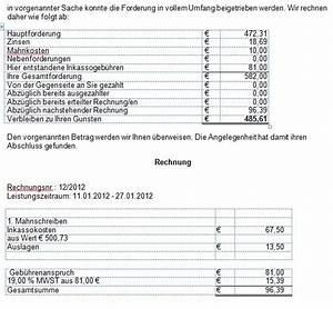 Goä Abrechnung Beispiel : abrechnung bsinkasso die inkassosoftware ~ Themetempest.com Abrechnung