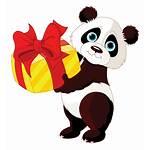 Birthday Panda Present Emoticons Symbols Happy Bear