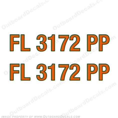 Boat Registration Numbers Decals by Boat Registration Number Decals You Choose 2 Color