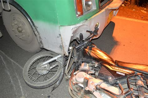 Man Critical After Crashing Into A Hrtc Bus In Tutikandi