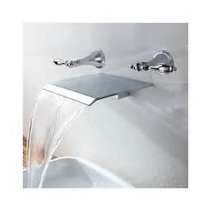contemporary waterfall bathroom sink faucet wall mount