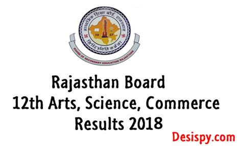 rajresults nic in rajasthan board 12th result 2018 declared for science commerce streams