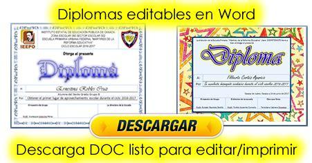 actividades imprimibles para primaria diplomas para aprovechamiento escolar editables listos