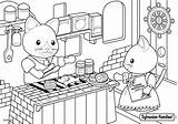 Sylvanian Families Coloring Restaurant Pages Colouring Coloriage Mer Bord Sheets Dessin Drawing Animaux Animal Blanket Pour Kitty Colorier Enfant sketch template